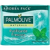 4 piezas de Jabón de Tocador Palmolive Naturals Menta y Eucalipto en Barra 150 G