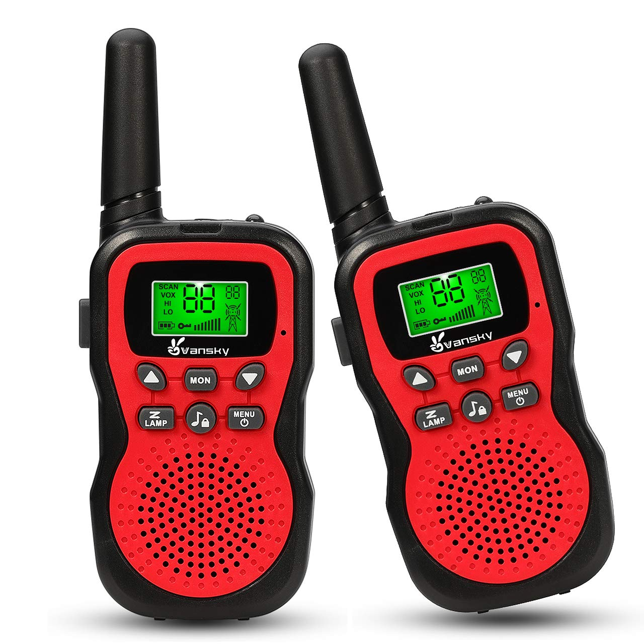 Vansky walkie Talkies for Kids - 22 Channel 2 Way Radio Long Range Built-In Flashlight