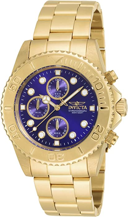 Invicta Men 19157 Pro Diver GoldTone Bracelet Watch