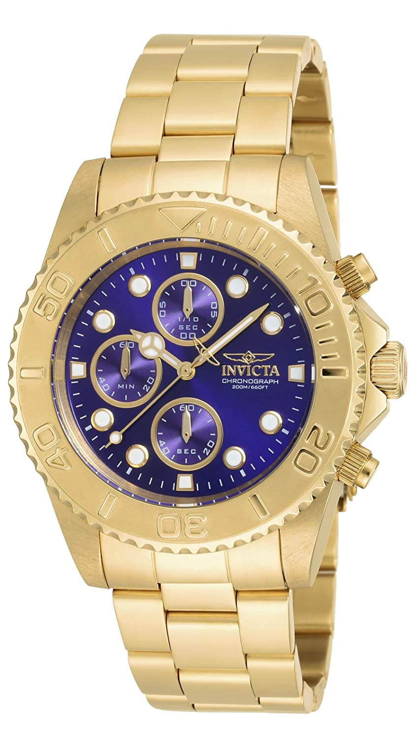 Amazon.com: Invicta Men's 19157 Pro Diver Gold-Tone Bracelet Watch: Invicta:  Watches