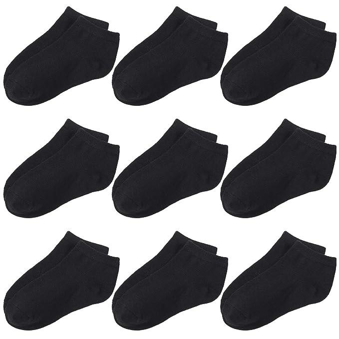 Amazon.com: URATOT 9 Pack Calcetines de algodón para niños ...