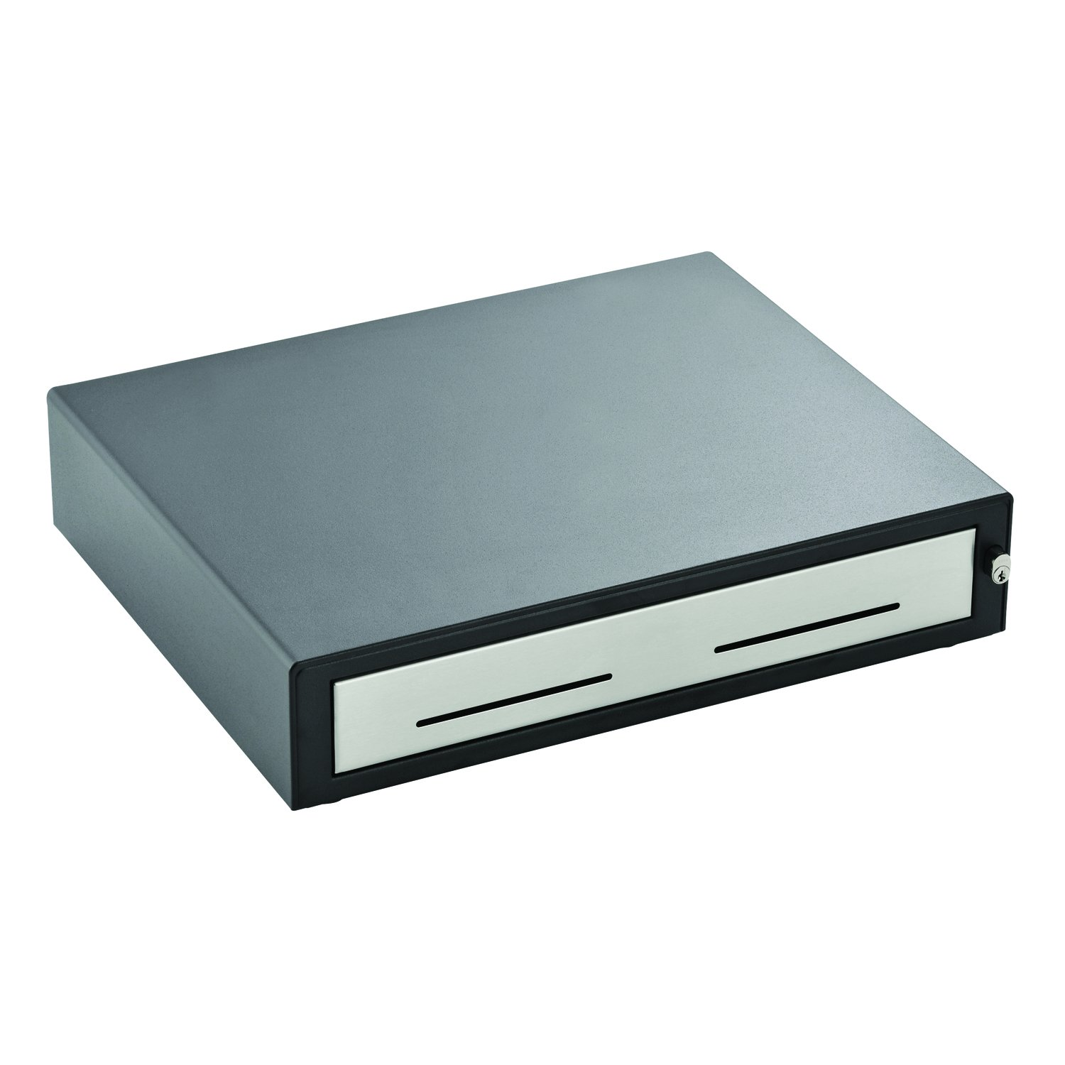 MMF Heritage 15-Inch Cash Drawer with Cable, Black/Stainless Steel (22611315131204A)