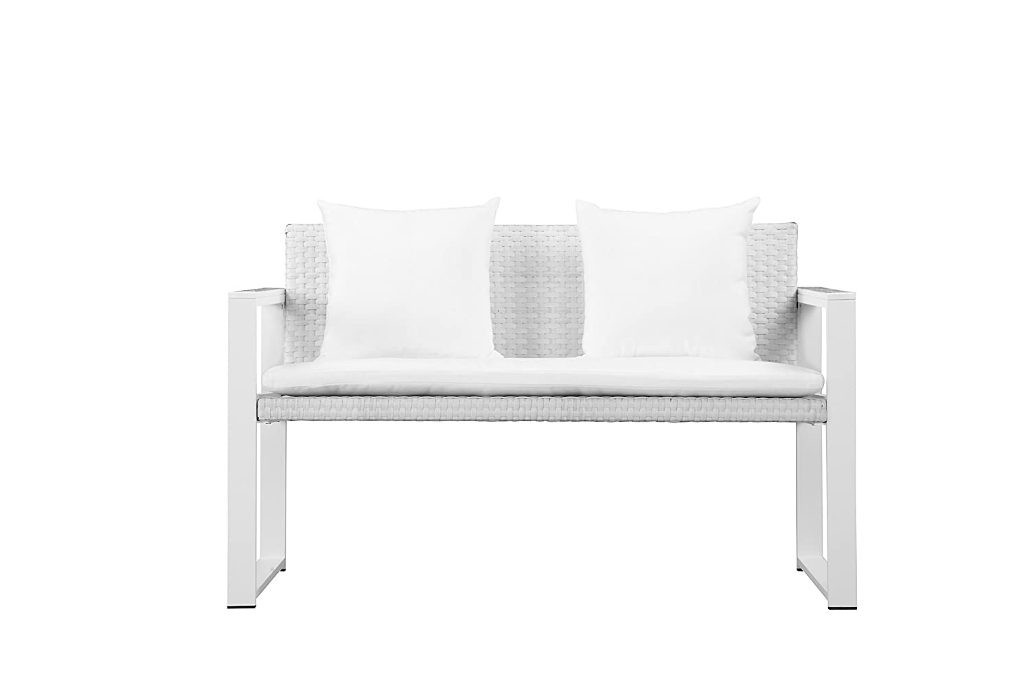 Amazon.com: Pangea Home Chester-SF-Wht Sofa, White-Anodized ...