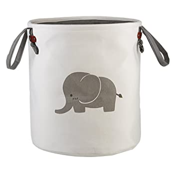 Bon HIYAGON Storage Baskets,Cotton Foldable Round Home Organizer Bin For Baby  Nursery,Toys,
