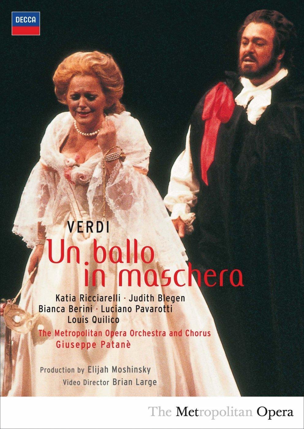 Un Ballo in Maschera Bianca Berini Giuseppe Patone Judith Blegen Katia Ricciarelli