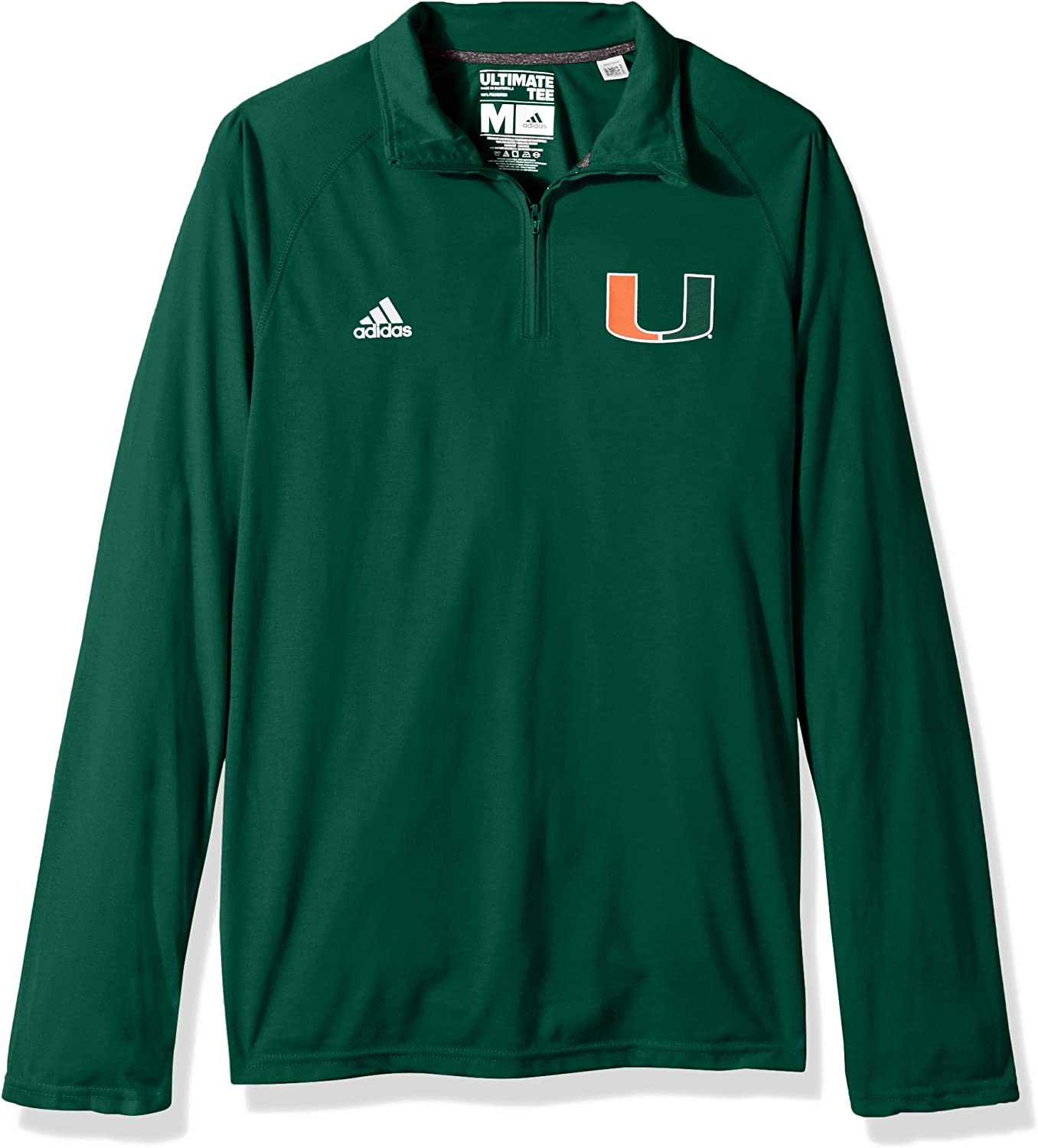 Adidas NCAA Men/'s Sideline L//S 1//4 Zip Pullover Jacket Team Options