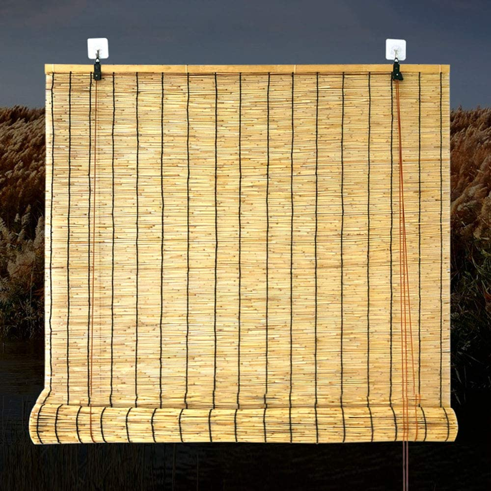 Amazon Com Bamboo Roller Blind Custom Roller Shades Filter The Light Bamboo Roll Up Window Blinds For Outdoor Patio Thernal Insulated Home Kitchen