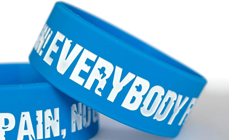 11thGear Lot de 2 bracelets de motivation en caoutchouc de silicone pour adulte