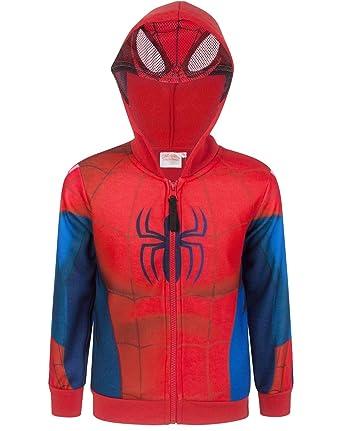 07ac87f72 Spider-Man Boy s Zip Up Costume Hoodie (3 Years)  Amazon.co.uk  Clothing