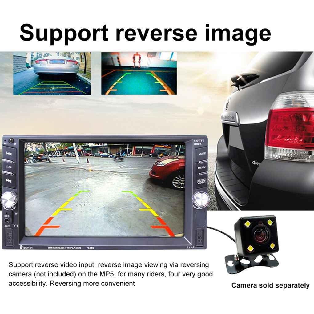 Republe Coche 2 din coche reproductor MP5 Radio Estéreo pantalla de 7 pulgadas táctil de HD con la cámara del revés del espejo Enlace Conectar DVR: ...