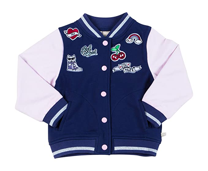 a1d56bfd4 Amazon.com  Toddler Girls Varsity Bomber   Sizes 2T-3T-4T-5T-6-7 ...