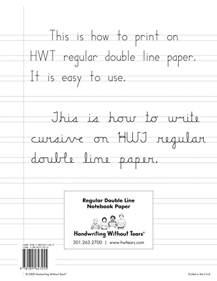 amazon com handwriting without tears double lined notebook paper