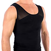 Esteem Apparel Men's Original Chest Compression Shirt to Hide Gynecomastia Moobs