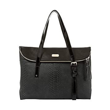 VÉLEZ 20169 Women Leather Business Briefcase | Maletín De Cuero Mujer Black