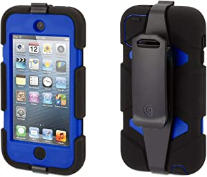 Griffin Survivor Case with Belt Clip for iPod Touch (5th/ 6th gen.) - Shock-Absorbing and Rugged Design, Black/Blue