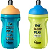 Tommee Tippee Insulated Flippee Straw Cup, 9 Ounce, 2 Count (Colors will vary)