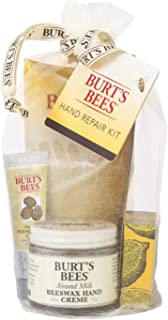 product image for Burt's Bees Hand Repair Gift Set, 3 Hand Creams plus Gloves Almond Milk Hand Cream, Lemon Butter Cuticle Cream, Shea Butter Hand Repair