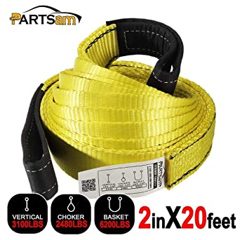 """6/' x 2/"""" 1-Ply Nylon Web Sling Lift Tow Strap Heavy Duty Polyester Web Loop Ends"""