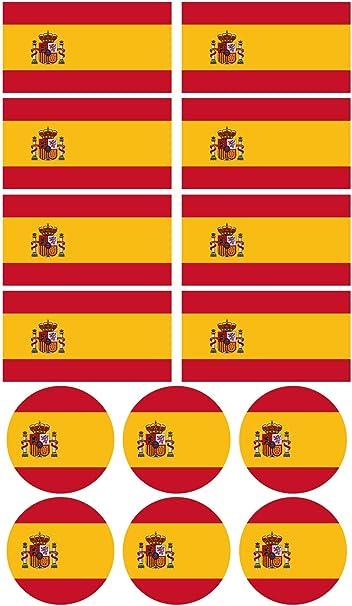 28 Pegatinas de la bandera de España. Stickers para bicicletas, motos, accesorios (ESPAÑA): Amazon.es: Coche y moto
