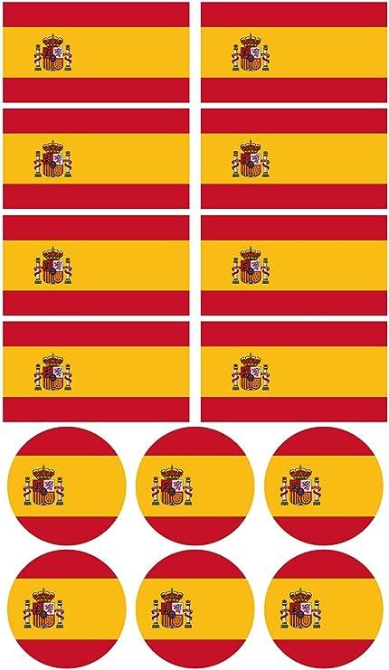 28 Pegatinas de la bandera de España. Stickers para bicicletas ...
