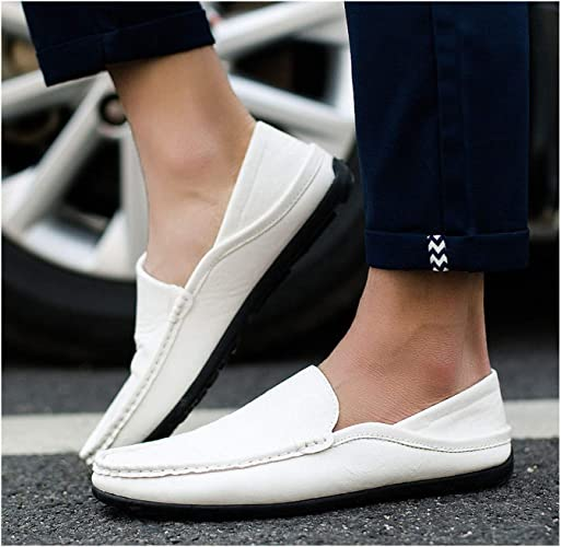 Mens Slip On Loafers Canvas Boat Shoes Flats Sneakers Driving Moccasins Shoes sz