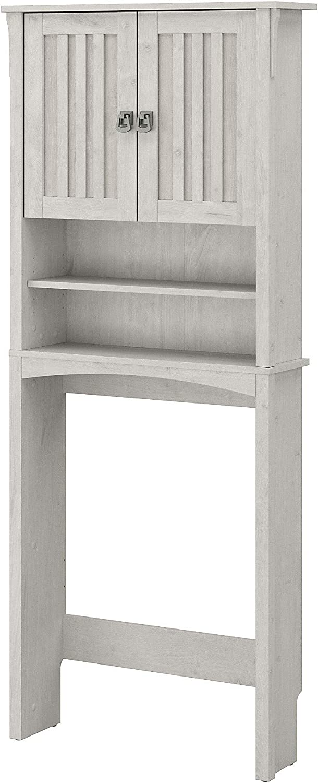Bush Furniture Salinas Bathroom Over The Toilet Storage Cabinet, Linen White Oak
