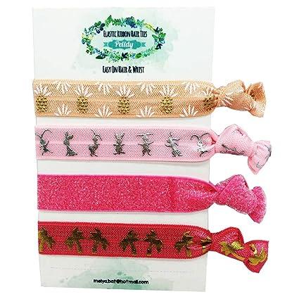 Amazon.com  Elastic Hair Ties -Creaseless Hair Tie-Bachelorette ... 6d8c70373b0