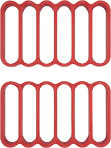 OXO Good Grips Silicone Roasting Racks, 2-Pack, Pack of 2, Red
