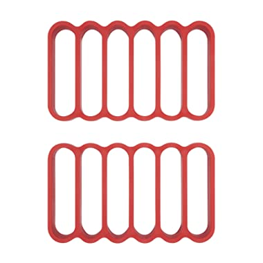 OXO 11210100 Good Grips Silicone Roasting Racks, 2-Pack, Red