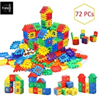 FRATELLI® Building Blocks for Kids - Certified European Saftey Standards (72 Pcs Mega Jumbo Happy Home House Building Blocks with Attractive Windows and Smooth Rounded Edges)
