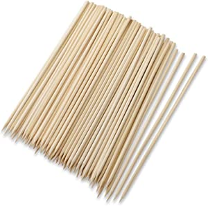 SIBORUI Bamboo Skewers,Kebab Sticks,Wooden Skewers,Skewer Sticks,Short Skewers,Wooden Kebab Skewers -Skewers for Fruit Kabobs,Shish Kabob, Grill, Appetizer, CornMore Food(6-Inch(100pcs))