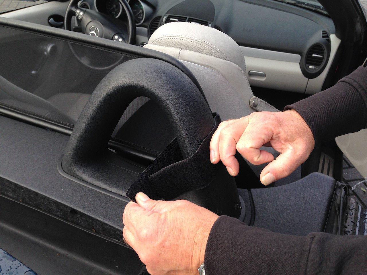 Tailor made windblocker Aperta Black wind deflector compatible with Mercedes-Benz SLK R170 Windstopper Mercedes-Benz convertible Draft-stop