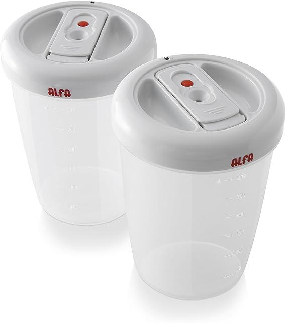 Alfa 7956 - Recipientes circulares de vacío, 900 ml: Amazon.es: Hogar