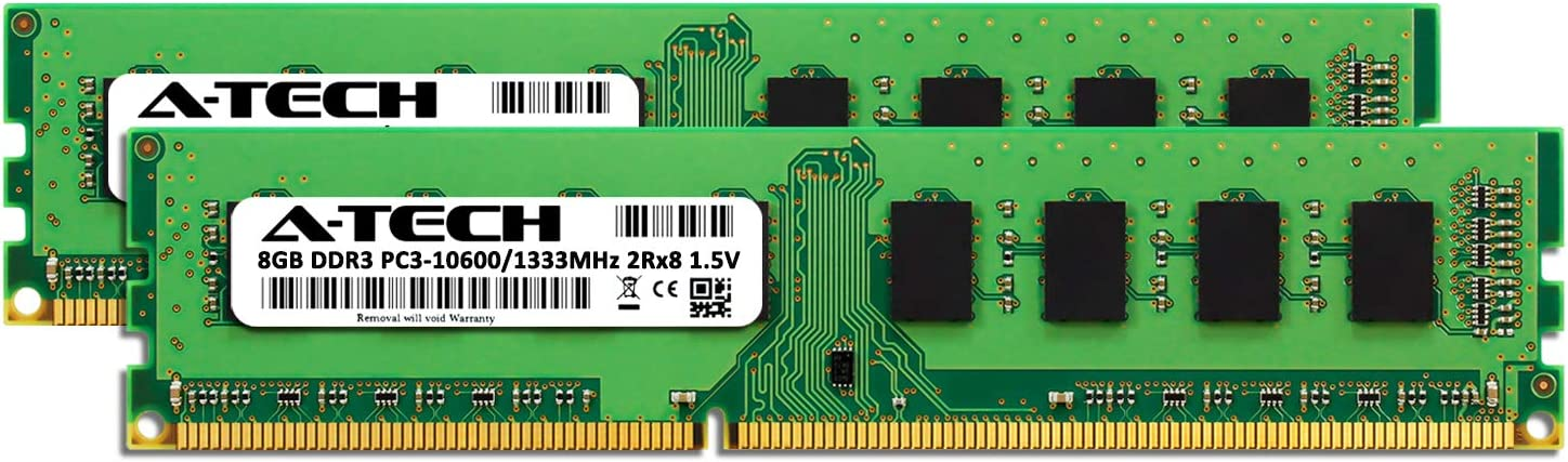 2 x 8GB DDR3 1333MHz DIMM PC3-10600 240-Pin Non-ECC UDIMM Memory Upgrade Kit A-Tech 16GB RAM for ASUS ROG 8565 A66