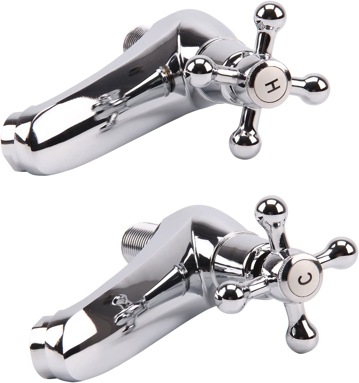 MultiWare 2 X R/étro Mitigeur Robinet de Lavabo Evier Double Levier en Laiton pour Toilettes Salle de Bain Cuisine