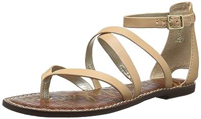 Sam Edelman Women's Gilroy Flat Sandals, Natural Naked, 5.5 B(M) US