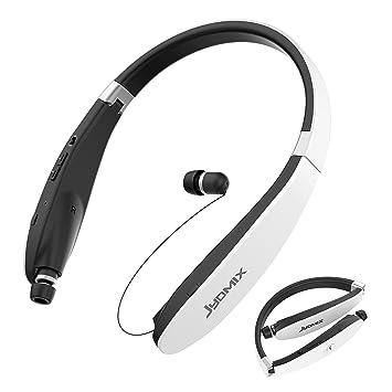 Auriculares Bluetooth, Auriculares inalámbricos plegables y retráctiles JYDMIX con banda para el cuello y micrófono