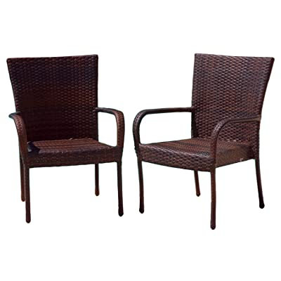 amazon com best selling outdoor wicker chairs 4 pack patio