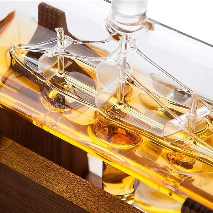 HDKIGY 1000Ml del Velero De Whisky La Jarra - Único Sin Plomo ...
