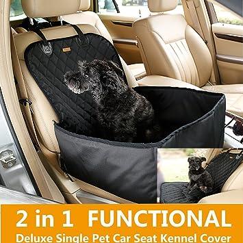 bailuoni 2 en 1 plegable impermeable perro de mascota gato funda para  asiento trasero de coche
