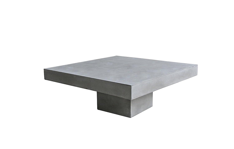 Couch Tisch Grau Aus Leichtbeton Quadratisch 80x80x36 Cm