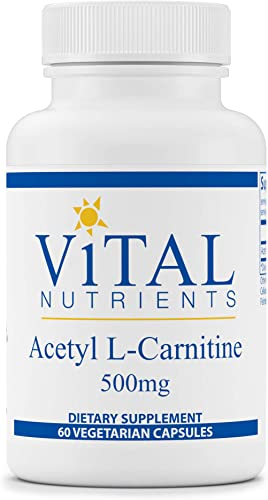 Vital Nutrients – Acetyl L-Carnitine – Supports Normal Brain Function – 60 Capsules per Bottle – 500 mg