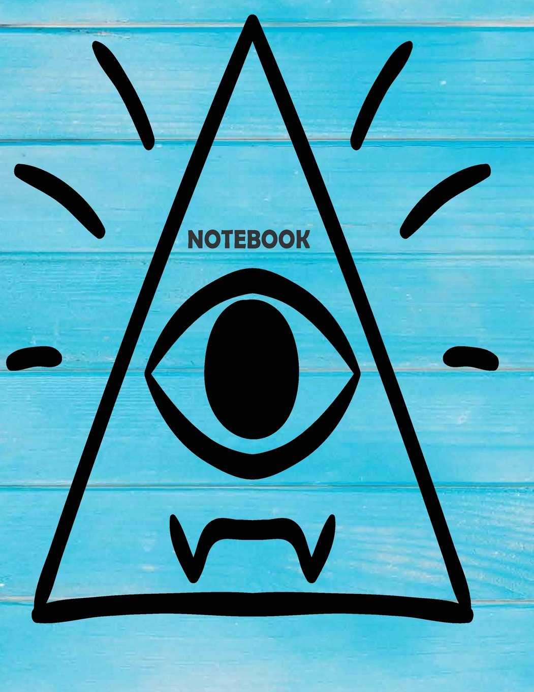 """Download NoteBook: The Eye Artist On The Blue Cover This Notebook Journal Diary, 110 Dashed lines pages, 8.5"""" x 11"""", Date on top (Volume 1) pdf"""