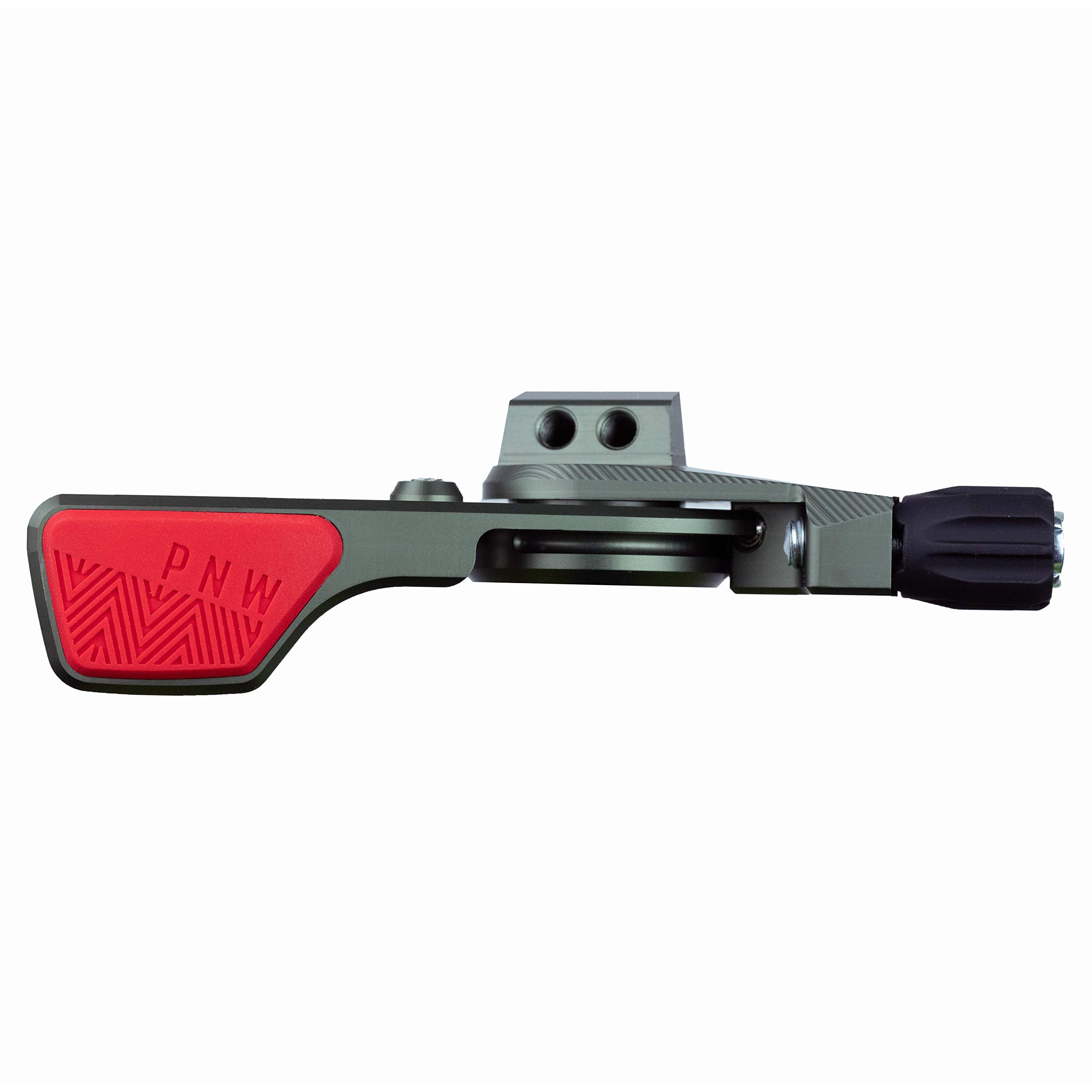 PNW Components Loam Lever Dropper Remote (Grey/Red, Matchmaker X Clamp) by PNW Components