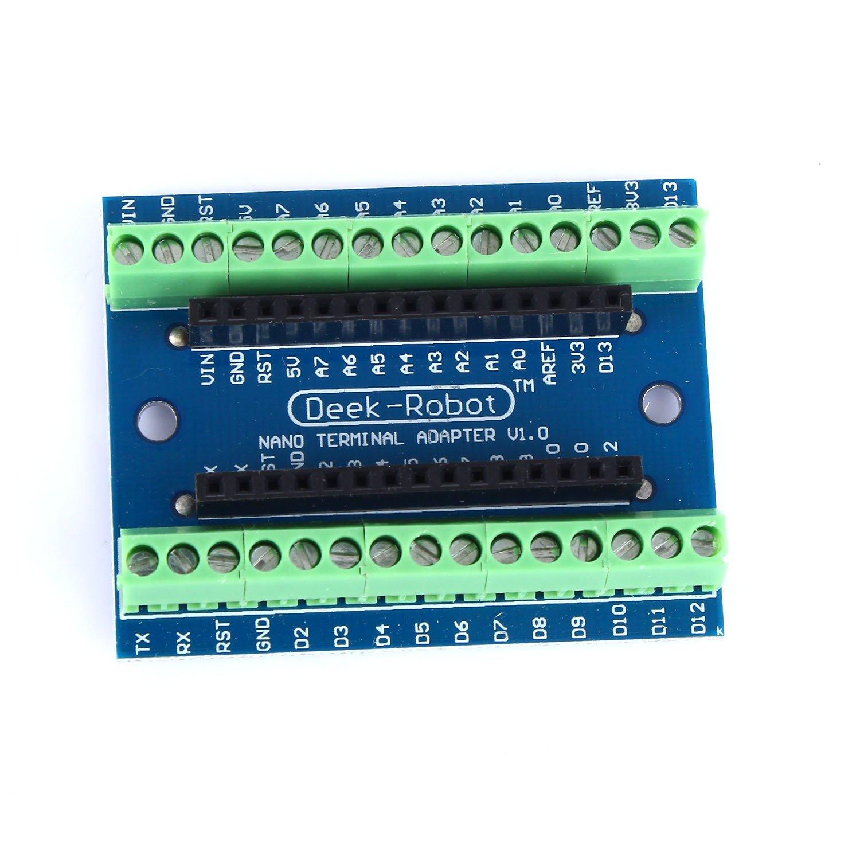 tinxi/® Nano Terminal Adapter f/ür Arduino Nano V3.0 AVR ATMEGA328P Module Board