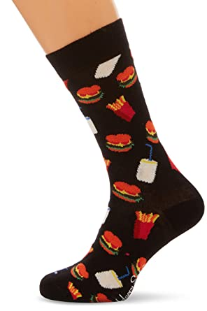 bas prix 33a72 f9a35 Happy Socks Hamburger Sock Chaussettes, (Lot de 6) Femme ...