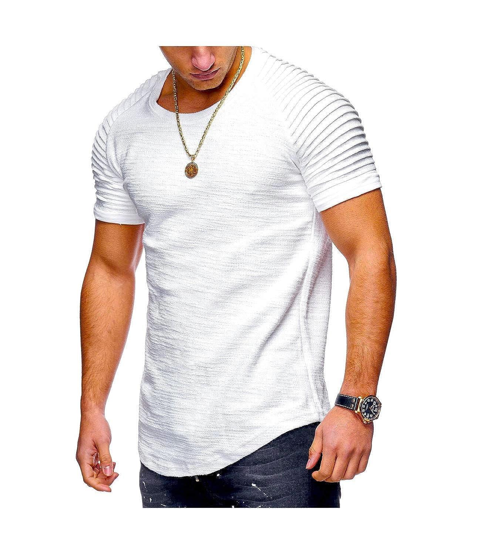 Men Bamboo Fiber T-Shirts Mens Summer T-Shirts Tops Short Sleeve Cotton Tops tees Bodybuilding Fold T-Shirt Man 3XL