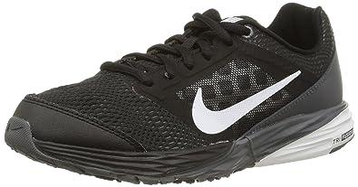 Nike Kids Tri Fusion Run (Big Kid)Running Shoes Black/ Grey/Silver/White