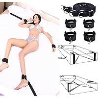 Imixcity Erotic Bondage Fetish Kit Manette per Materasso BDSM con 48cm Piumino Tickler