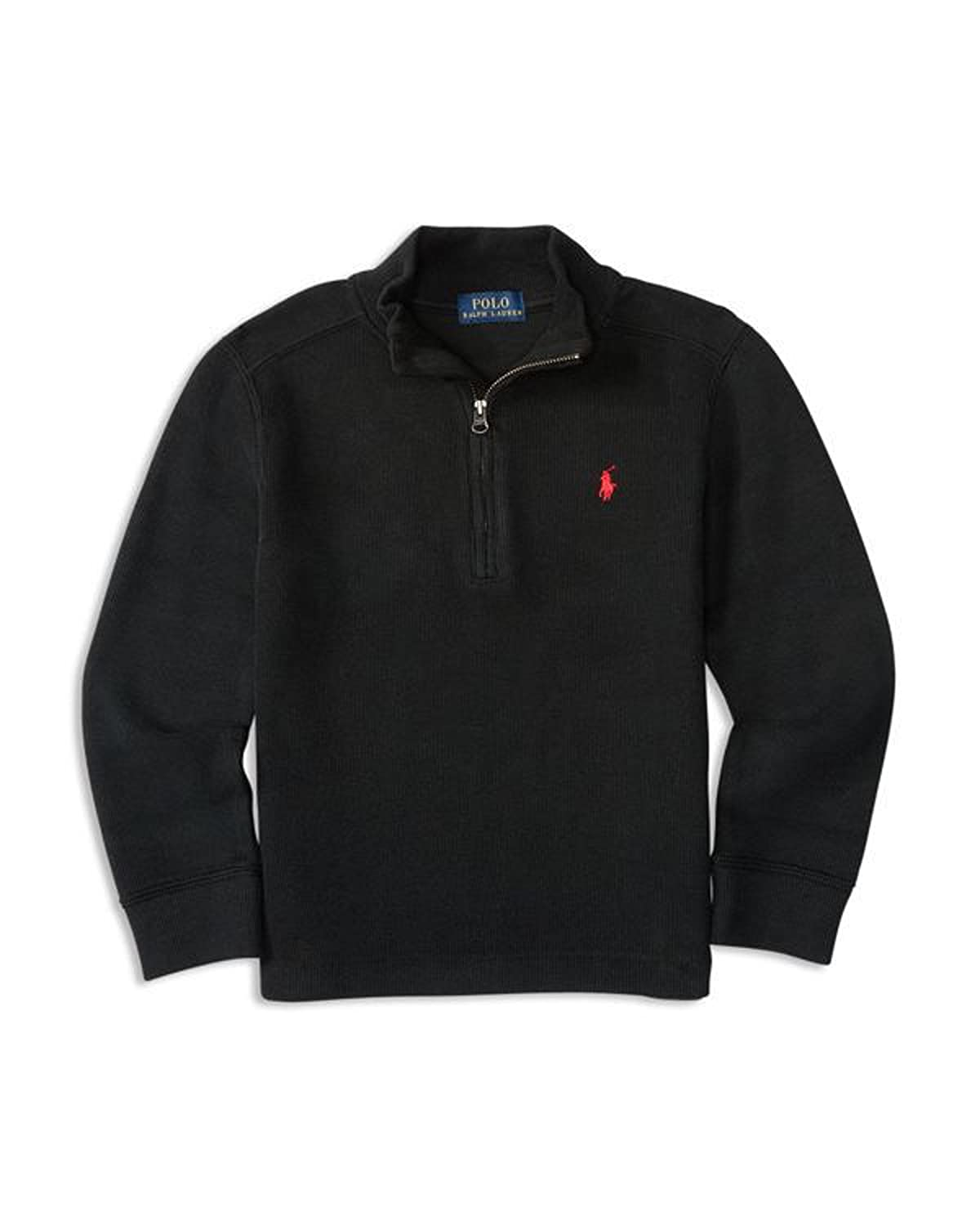 Ralph Lauren Polo Boys Half Zip French Rib Sweater